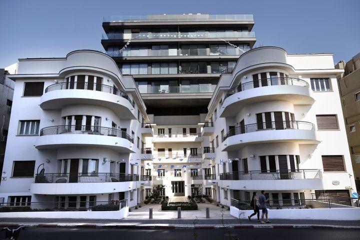 Construite en 1935, la maison Reisfeld a été dessinée par l'architecte pinchas Bijonsky. (THOMAS COEX / AFP)