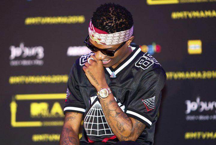 L'artiste nigérian Wizkid à Johannesbourg, lors de la conférence de pres des MTV Music Awards (MAMA) le 21 octobre 2016 (MICHELLY RALL / MTV AFRICA MUSIC AWARDS / AFP-SERVICES)