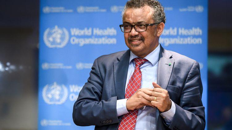 Tedros Adhanom Ghebreyesus, directeur général de l'Organisation mondiale de la santé (OMS), le 17 octobre 2018, à Genève (Suisse). (FABRICE COFFRINI / AFP)