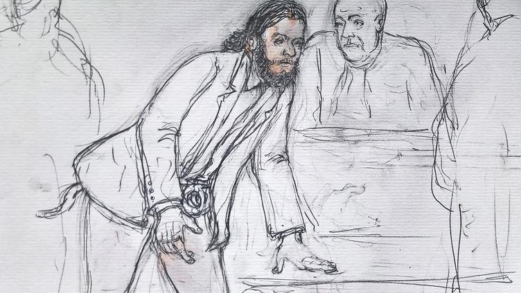 Salah Abdeslam lors de son procès à Bruxelles, le 7 février 2018. (BENOIT PEYRUCQ / AFP)