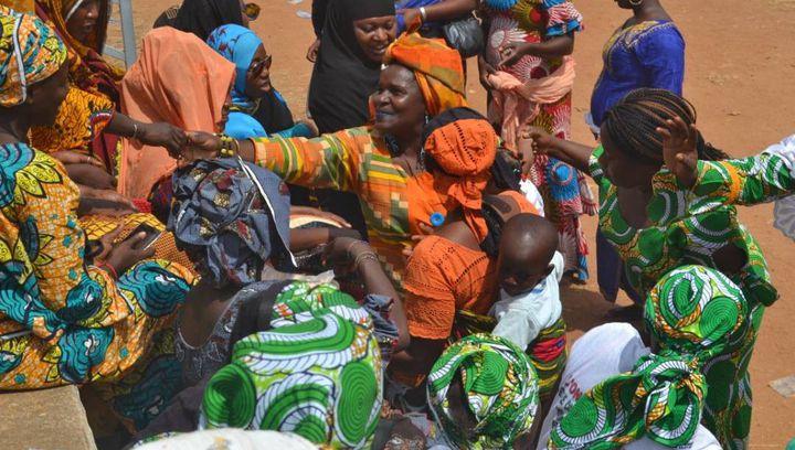 Naky Sy Savané lors d'une manifestation dédiée aux femmes. (DR)