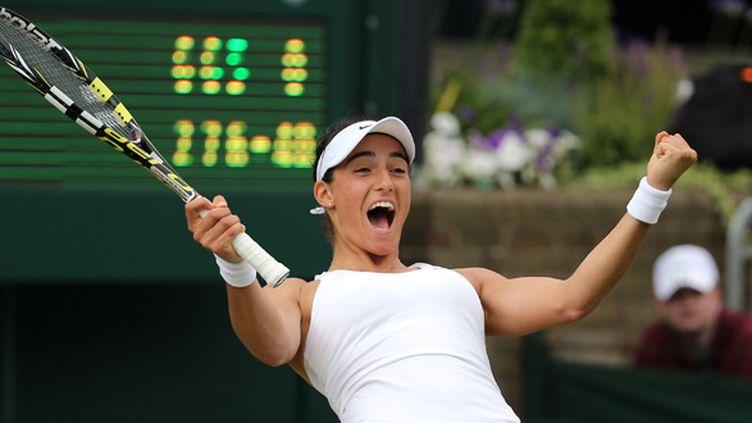 La joie de la Française Caroline Garcia (ANDREW COWIE / AFP)