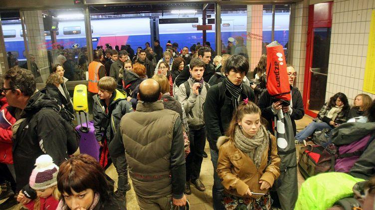 La gare de Chambéry (Savoie), le 26 février 2011. (SYLVAIN MUSCIO / LE DAUPHINE / MAXPPP)