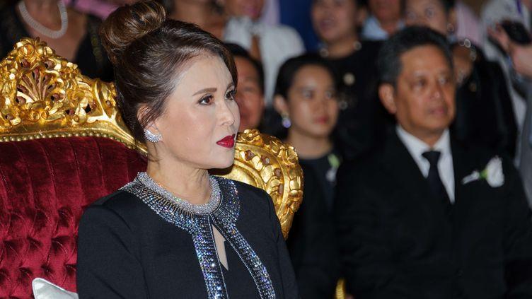La princesse Ubolratana, soeur aînée du roi de Thaïlande au festival de Cannes, le 18 mai 2017. (VARIETY/SHUTTERSTOCK/SIPA)