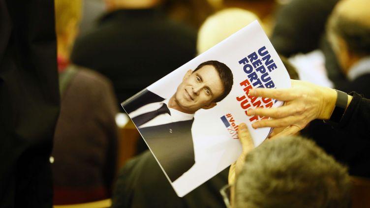 Le programme de campagne de Manuel Valls, présenté à la presse le 3 janvier 2017 (FRANCOIS MORI/AP/SIPA / AP)
