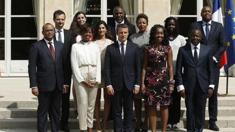 Le Conseil présidentiel pour l'Afrique a été présenté le 29 août 2017 à l'Elysée. (YOAN VALAT / POOL / AFP)