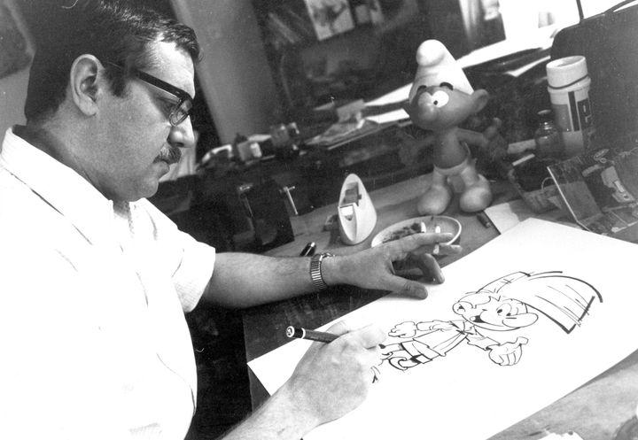 Peyo, créateur de Johan et Pirlouit, 1967-archives familiales (DR)