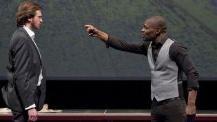 """Yannick Landrein et Kery James dans la pièce """"A Vif"""".  (Giovanni Cittadini Cesi)"""