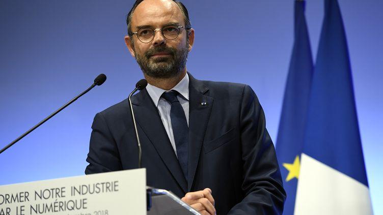 Le Premier ministre Edouard Philippe donne une conférence de presse, le 20 septembre 2018 à Paris. (BERTRAND GUAY / AFP)