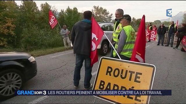 Réforme du Code du travail : faible mobilisation des routiers