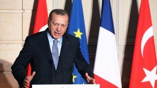 Le président turc Recep Tayyip Erdogan, le 5 janvier 2018, à Paris. (LUDOVIC MARIN / POOL)