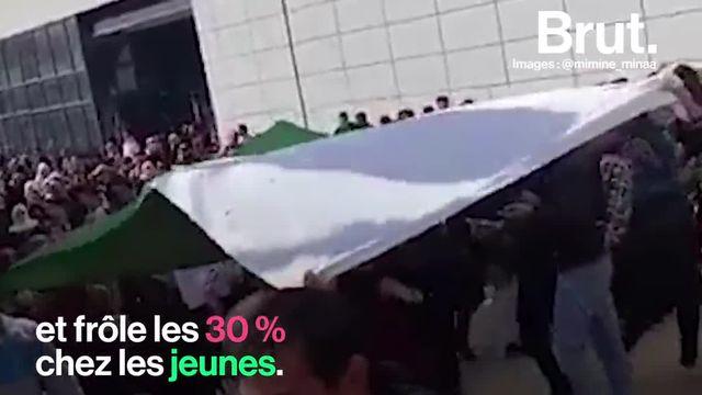 Ce dimanche 24 février, à Paris, des cohortes de jeunes Algériens ont défilé place de la République pour s'opposer au pouvoir en place.