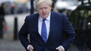 L'ancien maire de Londres et chef de file des partisans du Brexit, Boris Johnson, quitte son domicile à Londres le 28 juin 2016. (ODD ANDERSEN / AFP)