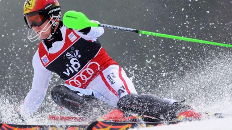 Le leader de la Coupe du monde de slalom, Marcel Hirscher