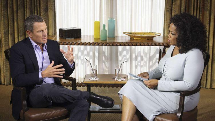 Lance Armstrong lors de l'enregistrement de l'émission d'Oprah Winfrey, le 14 janvier 2013. (GEORGE BURNS / AP / SIPA)