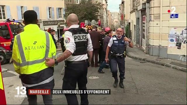 Marseille : stupeur après l'effondrement de deux immeubles