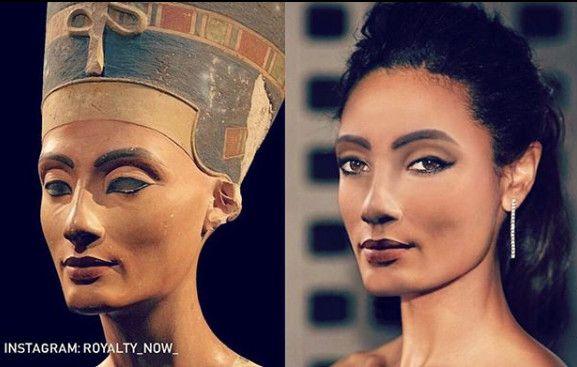 Néfertiti, imaginée par Becca Saladin au XXIe siècle. (© Royalty Now 2020)