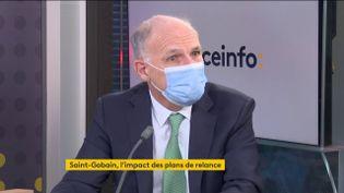 Pierre-André de Chalendar, le PDG, invité éco de franceinfo vendredi 26 février 2021. (FRANCEINFO)