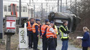 L'accident s'est produit à Louvain, en Belgique. (NICOLAS MAETERLINCK / BELGA MAG)