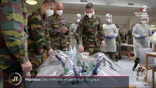Des militaires au secours d'un hôpital en Belgique (France 2)