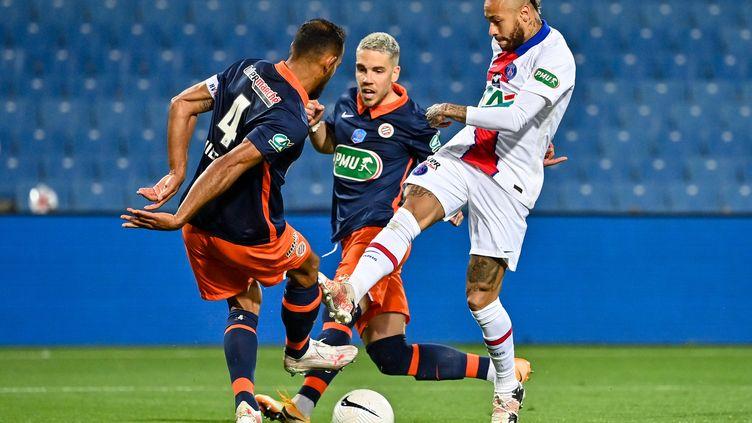 Neymar face à Montpellier (PASCAL GUYOT / AFP)