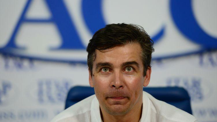 Le lugeur russe Albert Demchenko, médaillé d'atgent en luge simple et en relais par équipes à Sotchi en 2014, avant d'être suspendu et déchu par le CIO (VALERIY MELNIKOV / RIA NOVOSTI)