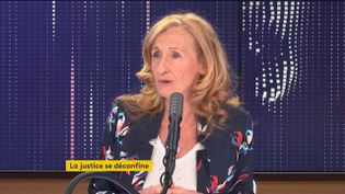 Nicole Belloubet, sur franceinfo, vendredi 12 juin. (FRANCEINFO / RADIOFRANCE)