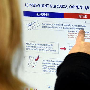Le prélèvement à la sourceest entré en vigueur le 1er janvier 2019 pour les contribuables français. (MAXPPP)