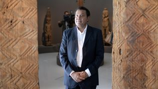 Emmanuel Kasarhérou au Musée du quai Branly-Jacques Chirac, en octobre 2013. (MARTIN BUREAU / AFP)