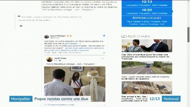 Montpellier : une adjointe au maire visée par un message raciste