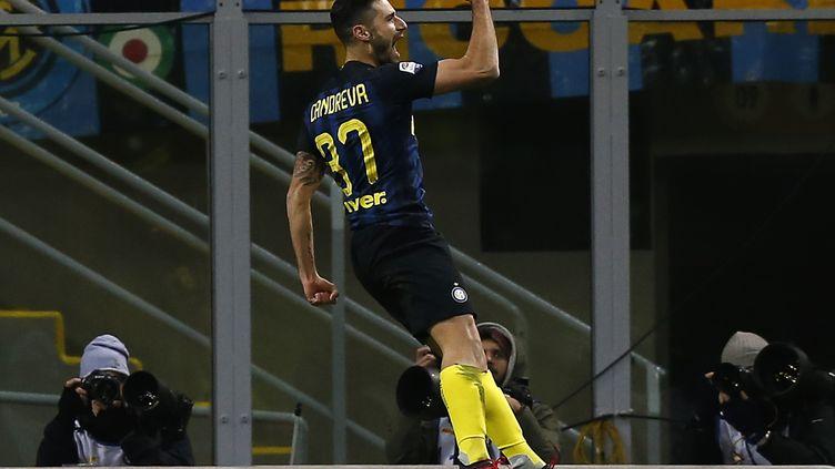 Le joueur de l'Inter Milan Antonio Candreva (MARCO BERTORELLO / AFP)