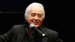 Jimmy Page, guitariste et producteur de Led Zeppelin, le 6 novembre 2014.  (Cindy Ord / Getty Images North America / AFP)