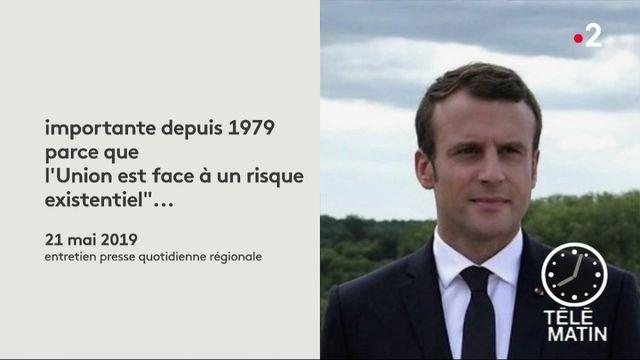 Macron prend la parole