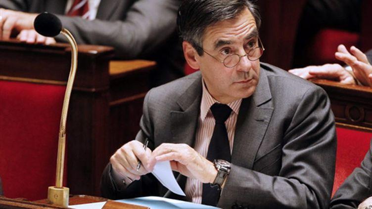 François Fillon s'est félicité de la polémique créée par ses propos sur la proposition de la candidate écologiste (AFP/Joël Saget)