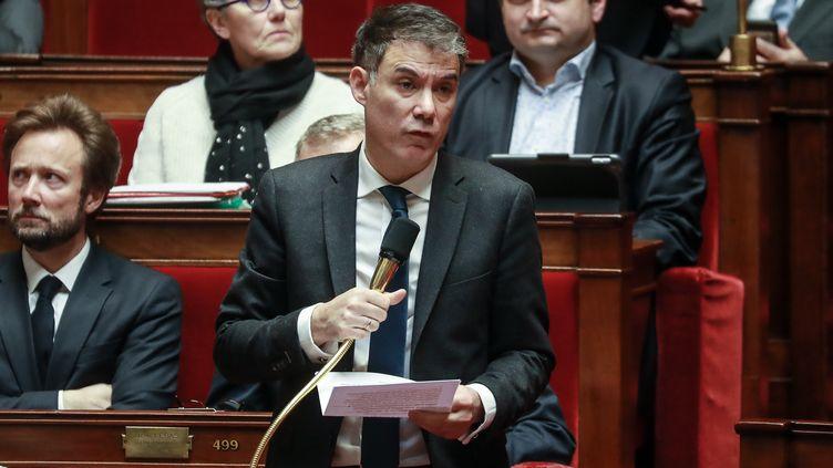 Le premier secrétaire du Parti socialiste Olivier Faure à l'Assemblée nationale, le 25 février 2020. (LUDOVIC MARIN / AFP)