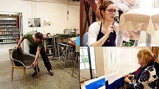 """Designers, artisans, techniciens, restaurateurs : les """"petites mains"""" du Mobilier National crééent et réparent des pièces uniques depuis quatre sicècles  (France 3 / Culturebox)"""