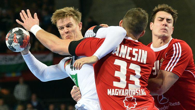 Le joueur allemand Niclas Pieczkowski (JANEK SKARZYNSKI / AFP)