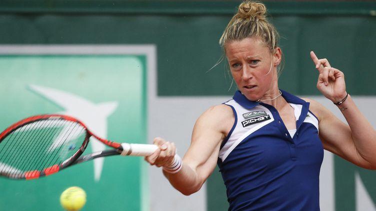 Pauline Parmentier a battu la 20e joueuse mondiale, Roberta Vinci (CHRISTOPHE KARABA / MAXPPP)