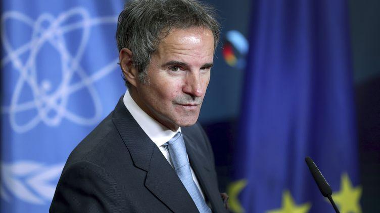 Le directeur de l'Agenceinternationale de l'énergie atomique, Rafael Grossi, le 26 octobre 2020 à Berlin (Allemagne). (MICHAEL SOHN / AFP)