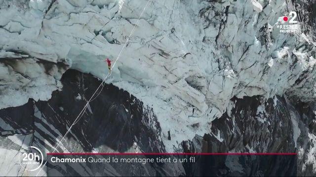 Haute-Savoie : à 200 m au-dessus du vide sur un fil minuscule