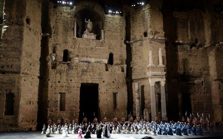 """Le Théâtre antique d'Orange (""""Nabucco"""" de Verdi - 2014)  (FRANCK PENNANT / AFP)"""