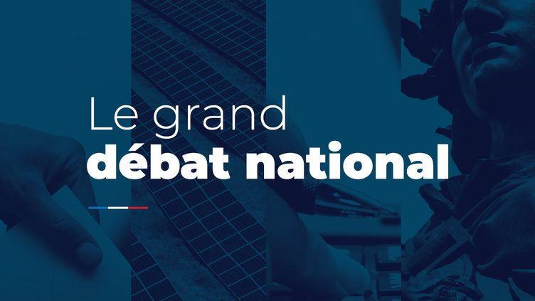 Capture d'écran de la page d'accueil du site internet du grand débat national, le 16janvier2019. (GRANDDEBAT.FR)