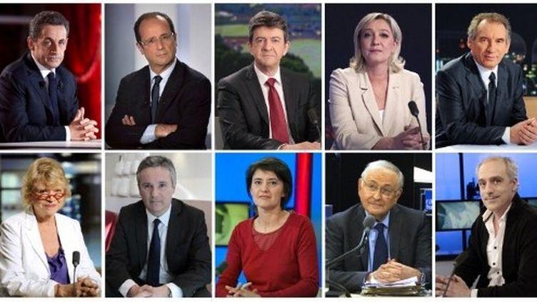 Les dix candidats à l'élection présidentielle (DSK)