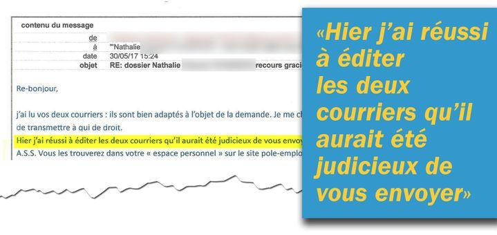 Les conseillers de Pôle emploi reconnaissent eux-mêmes que des mails n'ont pas été envoyés pour avertir des changements de procédures. (Cellule investigation / Radio France)