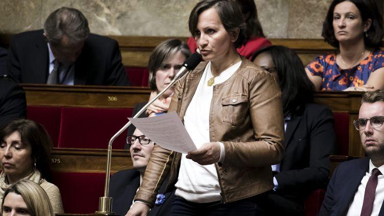 La députée LREMLaurence Vanceunebrock-Mialon à l'Assemblée nationale, à Paris, le 31 octobre 2017. (MAXPPP)