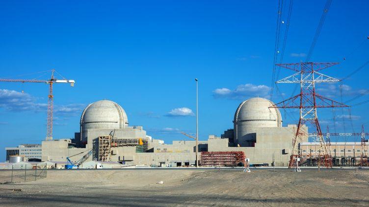 Une vue de la centrale nucléaire dans la région d'AlGharbia, à Abou Dabi (Émirats arabes unis), le 13 février 2019. (BARAKAH NUCLEAR POWER PLANT / AFP)