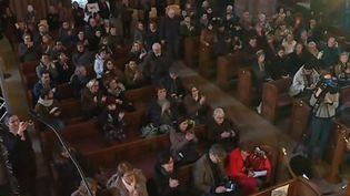 Un hommage aux victimes de l'attentat de Strasbourg (Bas-Rhin) est organisé en l'église Saint-Thomas ce samedi 9 février. (France 3)