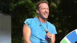 Chris Martin, chanteur de Coldplay  (Theo Wargo / Getty Images North America / AFP)