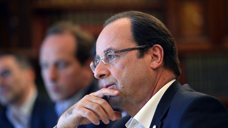 François Hollande au sommet du G8 à Enniskillen (Irlande du Nord) le 18 juin 2013 (JEWEL SAMAD / AFP)