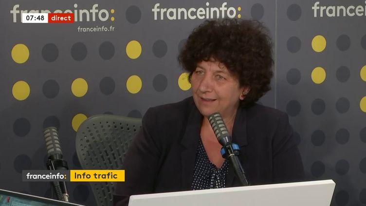Frédérique Vidal, ministre de l'Enseignement supérieur,était l'invitée de la matinale de franceinfo le 17 juillet 2020 (capture écran). (FRANCEINFO / RADIO FRANCE)